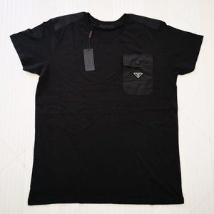 PRADA MEN T-SHIRT SLEEVE SHORT COTTON NWT